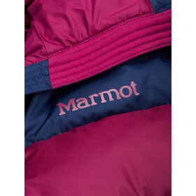 Marmot Guides Chaqueta Plumón Capucha Mujer, rosa/azul